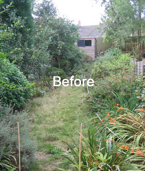 Garden Design For Sloped Garden Ideas: A Long, Narrow, Partially Sloping Garden