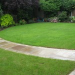 after curved path